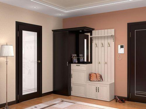 вешалки в прихожей шкаф купе в коридор тумба для одежды и узкое