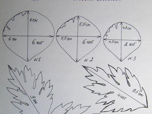 Выкройки цветов из фоамирана своими руками фото 274